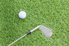 Sport objects related to golf equipment Stock Photography