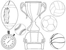 Sport objects Royalty Free Stock Photo