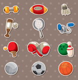 Sport objects stickers Stock Photos