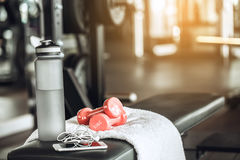 Sport oblects equipment isolated in the fitness center Royalty Free Stock Photo