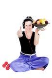 Sport och frukt Royaltyfria Bilder