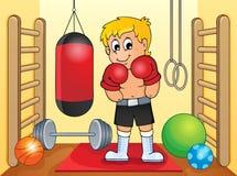 Sport- och idrottshalltemat avbildar 6 Arkivfoton