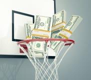 Sport och pengar Arkivbilder