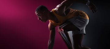 sport Odosobniony atleta biegacz zdjęcia royalty free