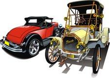 Sport and old  cars (my original design) Stock Photos