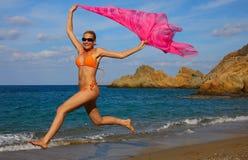 Sport op een strand Royalty-vrije Stock Afbeelding