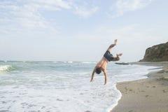 Sport op het strand Stock Fotografie