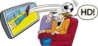Sport op hoge-definitietelevisie Royalty-vrije Stock Fotografie