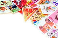 Sport op postzegels. stock afbeelding