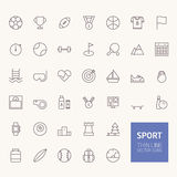 Sport Outline Icons Stock Photography