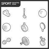 Sport outline isometric icons. Vector illustration, EPS 10 Stock Photos
