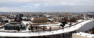Sport palace. Vilnius city panoramic view from the Gediminas castle Royalty Free Stock Images