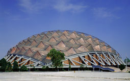 Sport palace dome. Sports Palace Dome (Palacio de los Deportes) is an indoor arena located in Mexico City near International Airport, It hosted the 1968 Mexico stock photos