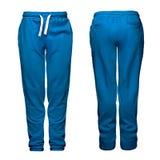 Sport pants, blue Stock Photo