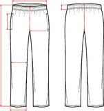 Sport pants. Vector illustration of sport pants. Front and back Royalty Free Stock Photos