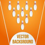 Sport with paper bowling pins and ball Royalty Free Stock Image