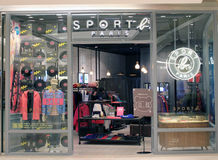 Sport Paris shop in hong kong Stock Image