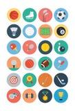Sport Płaskie ikony - Vol 1 Zdjęcie Stock
