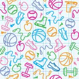 Sport pattern Stock Photos
