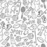 Sport pattern Stock Image