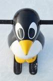 Sport penguin skates Royalty Free Stock Image