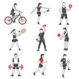 Sport People Icon Black royalty free illustration