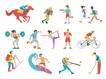 Sport people set Stock Photo