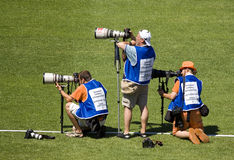 Sport photographer Royalty Free Stock Image