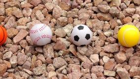 Sport piłki na firmowych kamieniach zdjęcie wideo
