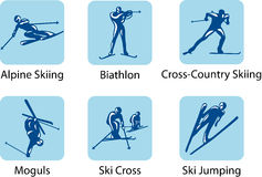 Sport pictograms. Vector sport pictograms which will be using on the winter olympic games 2010, Vancouver, Canada Stock Photo