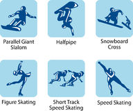 Sport pictograms. Vector sport pictograms which will be using on the winter olympic games 2010, Vancouver, Canada Stock Photography