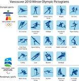 Sport pictograms and logos  Royalty Free Stock Photos