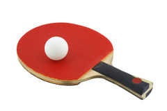 Sport ping-pong. Red and ball Royalty Free Stock Photo