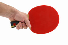 Sport ping-pong. With hand Royalty Free Stock Photos