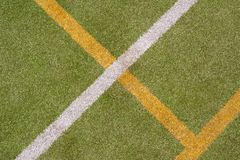 Sport pitch with artificial surface