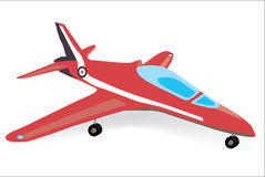 Sport plane realistic vector illustration Royalty Free Stock Photos
