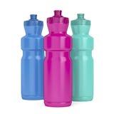Sport plastic bottles Royalty Free Stock Images