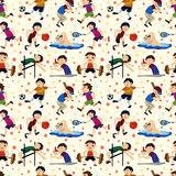 Sport player seamless pattern Stock Photography