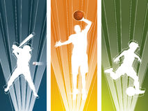 Sport player silhouette Royalty Free Stock Photography