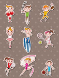 Sport player stickers Royalty Free Stock Photo
