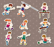Sport player stickers Royalty Free Stock Images