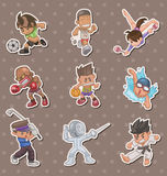 Sport players stickers Stock Photography