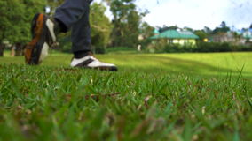 Sport. Playing Golf, close up stock video footage