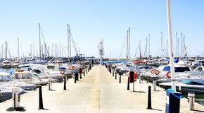 Sport port of Cambrils Stock Images