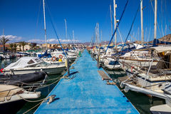 Sport port, Mediterranean sea Spain Royalty Free Stock Image