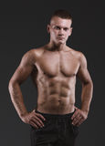 Sport portrait. Concept. Healthy muscular young man. Sport portrait Stock Photos
