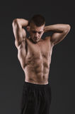 Sport portrait. Concept. Healthy muscular young man posing.  Sport portrait Stock Image