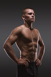 Sport portrait. Concept. Healthy muscular young man posing.  Sport portrait Stock Photo