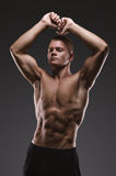 Sport portrait. Concept. Healthy muscular young man posing.  Sport portrait Stock Photos