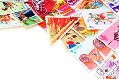 Sport on postage stamps. Stock Image